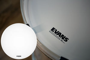 "EVANS EQ3-NP COATED WHITE BASS RESO DRUM HEAD (SIZES 18"" TO 26"")"