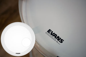 "EVANS EQ3 COATED WHITE BASS RESO DRUM HEAD (SIZES 18"" TO 26"")"