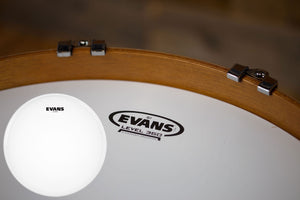 "EVANS G1 COATED BASS BATTER / RESONANT DRUM HEAD (SIZES 16"" TO 22"")"