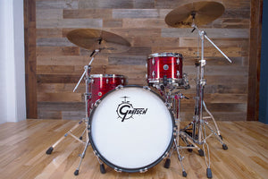 GRETSCH BROOKLYN SERIES 3 PIECE DRUM KIT SHELL SET, RED OYSTER (PRE-LOVED)