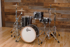 GRETSCH CATALINA CLUB JAZZ 4 PIECE DRUM KIT, SATIN BLACK (PRE-LOVED)