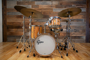 GRETSCH USA CUSTOM 3 PIECE BEBOP DRUM KIT, LIMITED EDITION 1 OF 25, RED GUM EXOTIC