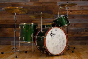 GRETSCH 1958 BIRDLAND 4 PIECE RARE AND COLLECTABLE DRUM KIT, CADILLAC GREEN WITH GOLD HARDWARE