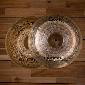 "ISTANBUL AGOP 14"" LENNY WHITE EPOCH SIGNATURE SERIES HI-HAT CYMBALS SN0163"