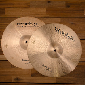 "ISTANBUL AGOP 14"" TRADITIONAL SERIES LIGHT HI-HAT CYMBALS SN0099"