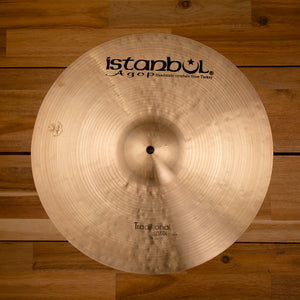 "ISTANBUL AGOP 16"" TRADITIONAL SERIES DARK CRASH CYMBAL SN0101"