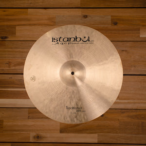 "ISTANBUL AGOP 17"" TRADITIONAL SERIES DARK CRASH CYMBAL SN0098"