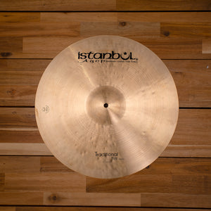 "ISTANBUL AGOP 17"" TRADITIONAL SERIES THIN CRASH CYMBAL"