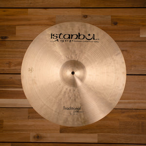 "ISTANBUL AGOP 18"" TRADITIONAL SERIES DARK CRASH CYMBAL"
