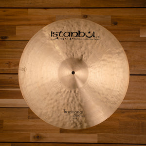 "ISTANBUL AGOP 19"" TRADITIONAL SERIES DARK CRASH CYMBAL SN0103"