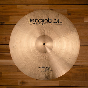 "ISTANBUL AGOP 20"" TRADITIONAL SERIES DARK CRASH CYMBAL SN0151"