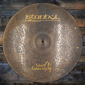 "ISTANBUL MEHMET 22"" 61ST ANNIVERSARY RIDE CYMBAL WITH TWO RIVETS (PRE-LOVED)"