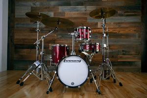 LUDWIG BREAKBEATS BY QUESTLOVE 4 PIECE DRUM KIT, WINE RED SPARKLE