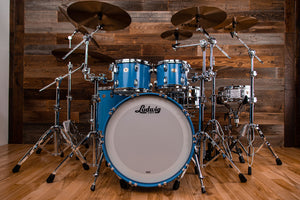LUDWIG CLASSIC MAPLE 110TH ANNIVERSARY BADGE 4 PIECE MOD DRUM KIT, HERITAGE BLUE