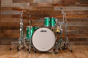 LUDWIG CLASSIC OAK 3 PIECE DRUM KIT, PRO BEAT CONFIGURATION, GREEN SPARKLE