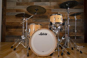 LUDWIG CLUB DATE 3 PIECE DRUM KIT, DOWNBEAT CONFIGURATION, NATURAL SATIN