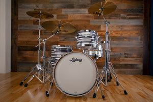 LUDWIG NEUSONIC 3 PIECE DRUM KIT, FAB CONFIGURATION, DIGITAL BLACK OYSTER SPECIAL EDITION