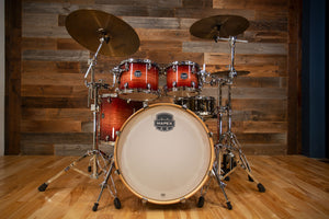 MAPEX ARMORY 5 PIECE ROCK MAPLE / BIRCH HYBRID SHELL DRUM KIT, REDWOOD BURST