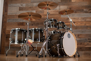 MAPEX ARMORY AR628SFU-TK STUDIO 22 LA FUSION 6 PIECE DRUM KIT, BLACK DAWN