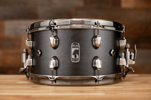 MAPEX BLACK PANTHER HYDRO 13 X 7 MAPLE SNARE DRUM, FLAT BLACK TRANSPARENT LACQUER