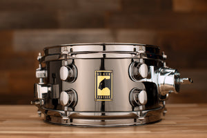 MAPEX BLACK PANTHER 10 X 5.5  PREMIUM STEEL SNARE DRUM, BLACK CHROME SHELL AND FITTINGS (PRE-LOVED)