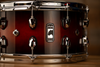 MAPEX BLACK PANTHER SOLIDUS 14 X 7 11 PLY MAPLE SNARE DRUM, RED TO BLACK BURST LACQUER