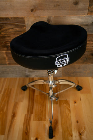 MAPEX T765A BLACK SADDLE DRUM THRONE (DRUM STOOL)