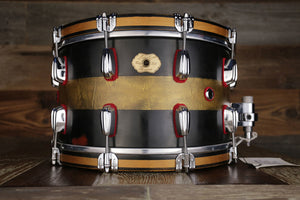 MASSHOFF 14 X 8 DUCO KING SNARE DRUM, SOLID DIECAST STEEL SNARE DRUM WITH WOOD HOOPS, HAND PAINTED, DRUMAZON EXCLUSIVE!