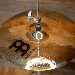 "MEINL 14"" BYZANCE BRILLIANT HEAVY HAMMERED HI-HAT CYMBALS (PAIR)"