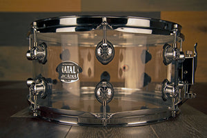 NATAL ARCADIA 13 X 6.5 TRANSPARENT CLEAR ACRYLIC SNARE DRUM