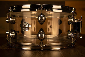 NATAL ARCADIA 14 X 6.5 TRANSPARENT CLEAR ACRYLIC SNARE DRUM