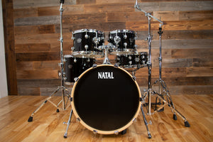 NATAL ARCADIA F20 5 PIECE DRUM KIT WITH STANDS, BLACK