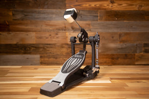 NATAL ARCADIA SERIES SINGLE BASS DRUM PEDAL, DOUBLE CHAIN, PLATED BASE, ADJUSTABLE BEATER POSITION