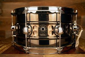 NATAL CAFE RACER 13 X 7 STEEL BEADED HAND HAMMERED SNARE DRUM