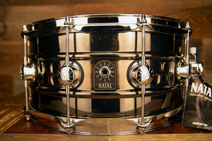 NATAL CAFE RACER 14 X 7 STEEL BEADED HAND HAMMERED SNARE DRUM
