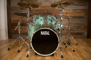 NATAL CAFE RACER UF22 4 PIECE DRUM KIT, SEA FOAM GREEN
