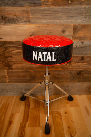 NATAL FAT TOP DELUXE DRUMMERS THRONE, RED TOP WITH BLACK SIDES