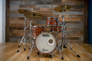 NATAL ORIGINALS BUBINGA 4 PIECE BOP DRUM KIT, NATURAL BUBINGA (PRE-LOVED)