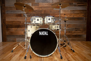 NATAL ORIGINALS BIRCH 4 PIECE DRUM KIT, WHITE METALLIC