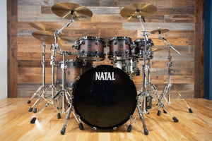 NATAL ORIGINALS WALNUT CUSTOM ORDER 6 PIECE DRUM KIT, VINTAGE BURST