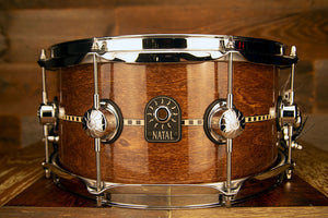 NATAL TULIPWOOD 13 X 6.5 INLAY SNARE DRUM, GLOSS FINISH