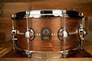 NATAL TULIPWOOD 13 X 6.5 INLAY SNARE DRUM, SATIN FINISH