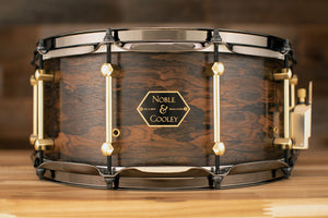 NOBLE & COOLEY 14 X 6.5 ZIRICOTE / CHESTNUT LIMITED EDITION SNARE DRUM LIMITED EDITION NO.1 OF 20