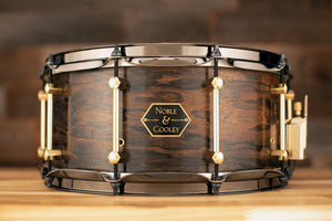 NOBLE & COOLEY 14 X 6.5 ZIRICOTE / CHESTNUT LIMITED EDITION SNARE DRUM LIMITED EDITION NO.3 OF 20