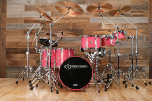 NOBLE & COOLEY CD MAPLE 6 PIECE DRUM KIT, HOT PINK SPARKLE LACQUER