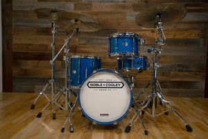 NOBLE & COOLEY HORIZON SERIES 3 PIECE BOP KIT, CAIRO BLUE HOLO SPARKLE LACQUER