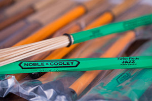 NOBLE & COOLEY TWIST RODS, GREEN JAZZ PAIR WITH INTERCHANGABLE END CAPS