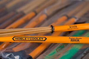 NOBLE & COOLEY TWIST RODS, ORANGE ROCK PAIR WITH INTERCHANGABLE END CAPS