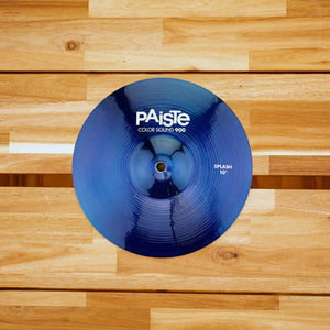 "PAISTE 10"" 900 COLOR SOUND SERIES BLUE SPLASH CYMBAL SN0188"