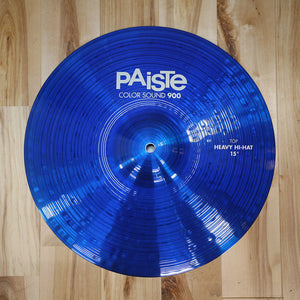 "PAISTE 15"" 900 COLOR SOUND SERIES BLUE HEAVY HI-HAT CYMBAL PAIR (EX GONG ROOM)"